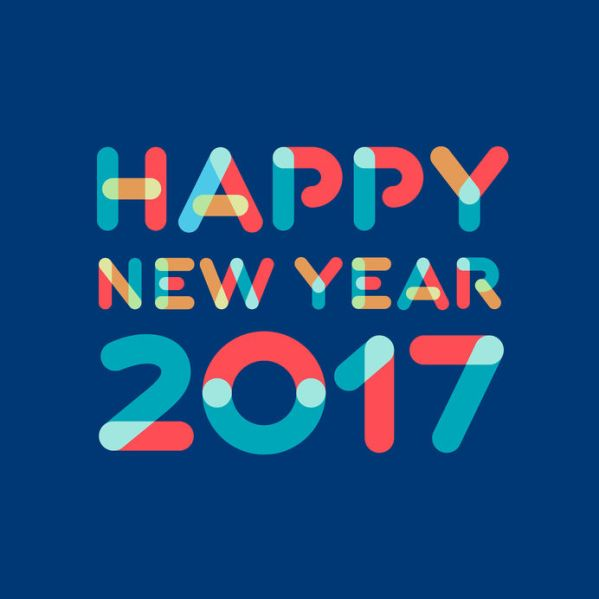 65725418 - happy new year 2017 greeting card design